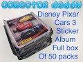 Disney Pixar Cars 3 Sticker Collection Full Box Of 50 Packs