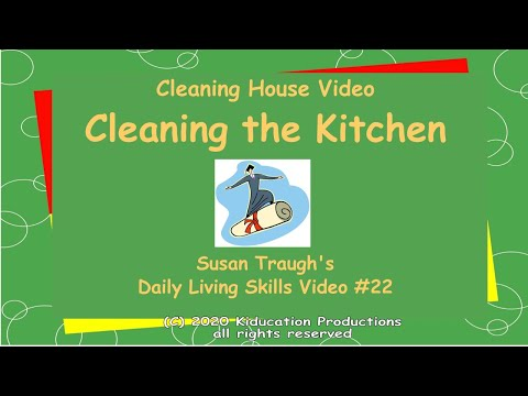 Cleaning the Kitchen - Daily Living Skills - YouTube