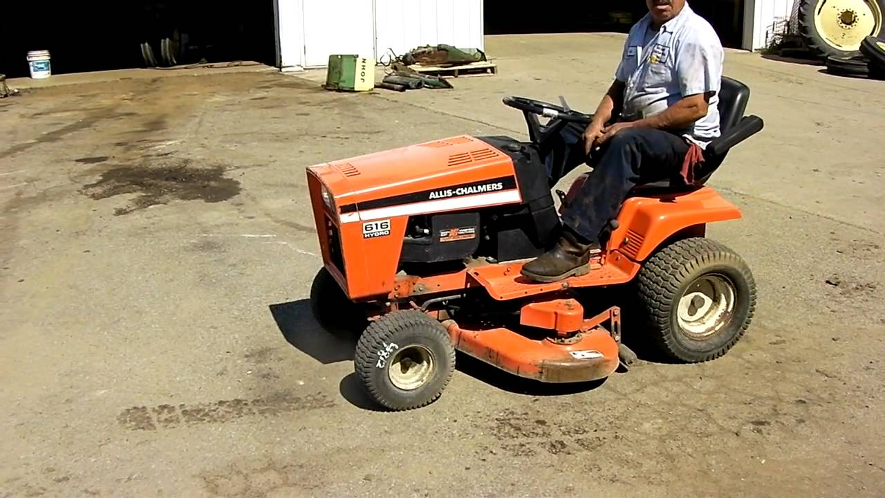 maxresdefault allis chalmers 616 hydro lawn mower youtube  at bakdesigns.co