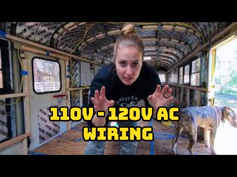 Running 110v - 120v AC Romex Wire In Our School Bus* Skoolie Conversion * Gus The Struggle