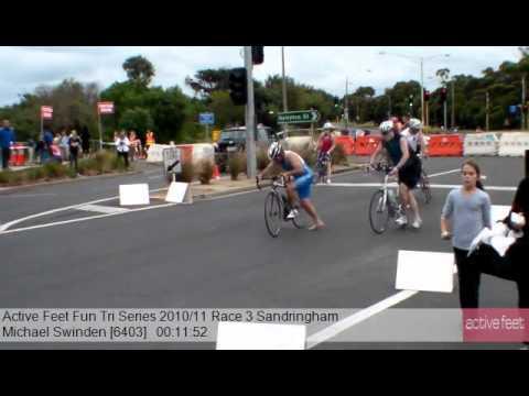 Michael Swinden 6403 Active Feet Fun Tri Series 2010 11 Race 3 Sandringham