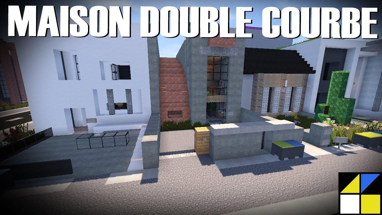 Minecraft - Maison moderne à toits courbes - YouTube