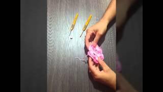 Como colocar pérola em flor de crochê – Alvenir Crochê