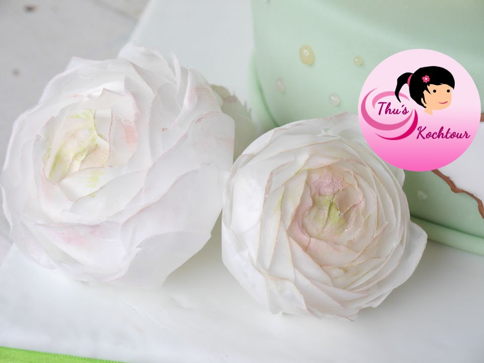 Eng Sub How To Make Buttercup Flowers With Wafer Paper Ranunkel