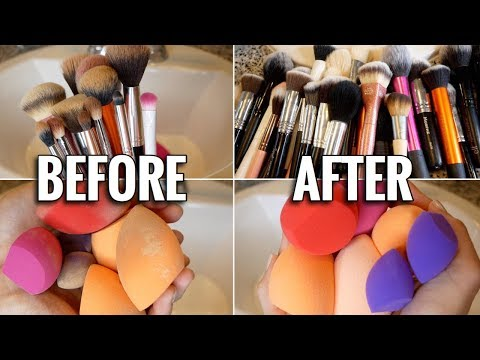 HOW TO: CLEAN MAKEUP BRUSHES & MAKEUP SPONGES   ft. (SIGMA SPA EXPRESS BRUSH CLEANING MAT)