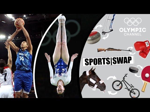 Basketball vs Trampoline Gymnastics - Can They Switch Sports?  | Sports Swap Challenge