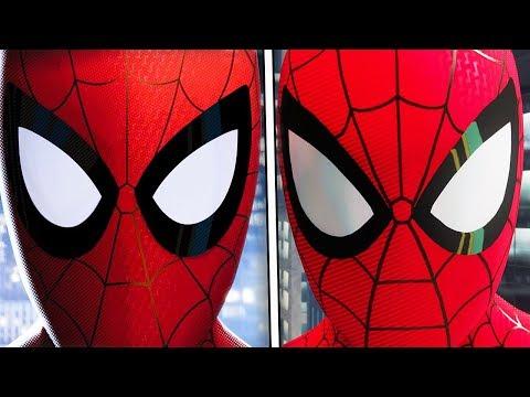 """Spider-Man PS4 """"Only One Spider-Man"""" Recreation Spider-Man: Into The Spider Verse"""