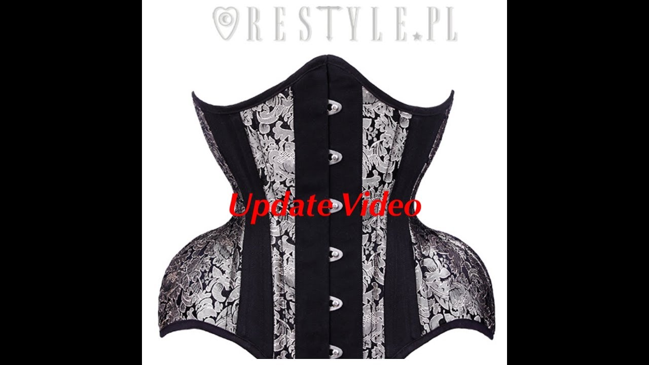faf37bf08b Update RESTYLE White Gold Corset - YouTube