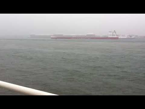 CSL St. Laurent downbound passing cruise ship Victory 1.