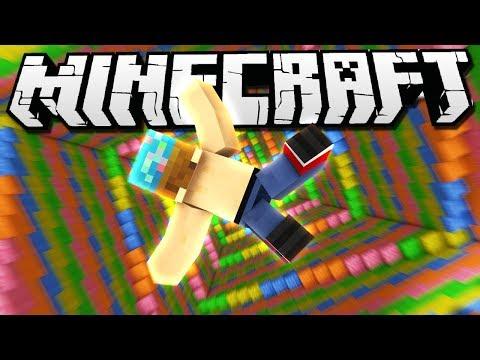 I FELL INTO A RAINBOW!   Minecraft Dropper