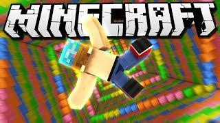 I FELL INTO A RAINBOW! | Minecraft Dropper