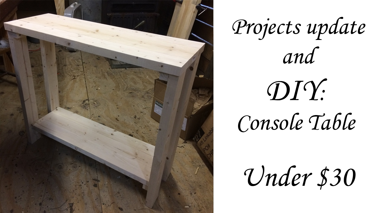 30 Inch DIY Console Table Under $30