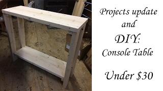 30 inch DIY console table under $30