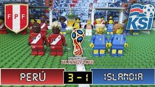 Perú 3 - 1 Islandia - LEGO Fútbol - Amistoso 27/03/2018 -  Resumen y Goles Stop Motion