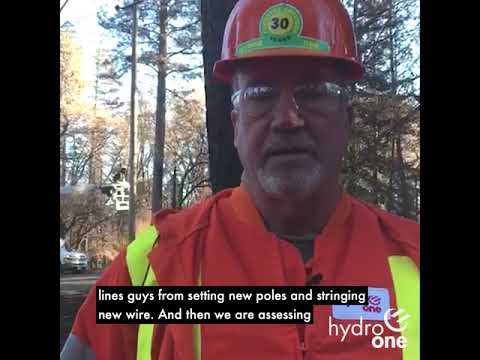 California Wildfire Work Update from Hydro One - December 4, 2018