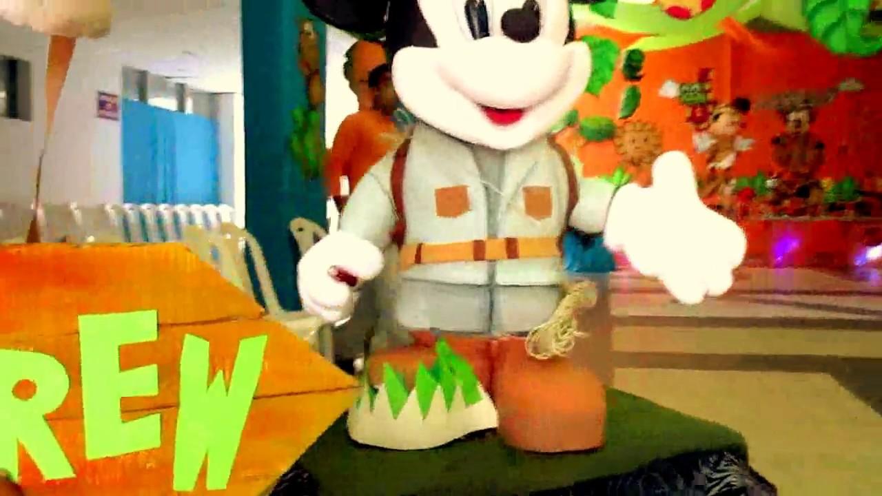 Mickey safari decoracion de fiestas fiestas infantiles - Decoracion fiestas infantiles ...