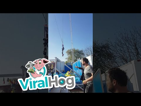 Thumbnail: Woman Falls from Ride and Dangles by Feet