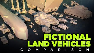 🚚 FICTIONAL Land VEHICLES | 3D Real Scale 🚗