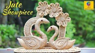 DIY Swans with Jute Rope | Swan Couple Home Decor Showpiece | Jute Craft Decoration Design