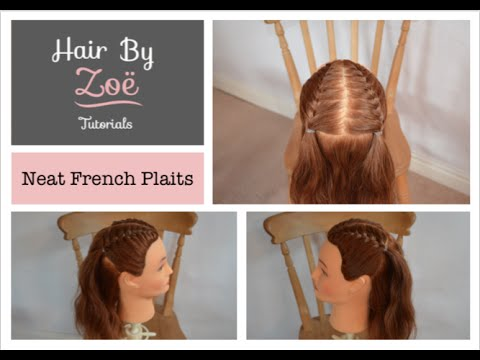 Neat french plaits tutorial hair by zoe youtube neat french plaits tutorial hair by zoe ccuart Choice Image