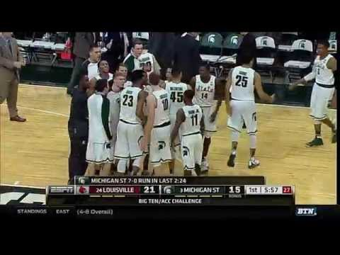 Louisville at Michigan State - Men's Basketball Highlights