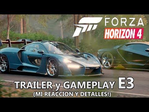 Presentacion Forza Horizon 4 E3 2018 Completo - Mi Reaccion y Detalles (Español) Trailer + Gameplay
