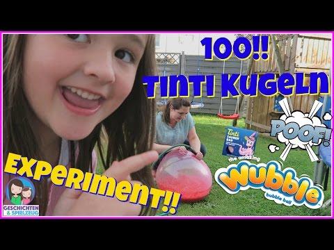 XXL 100 Tinti Badekugeln gegen Wubble Bubble – Explosion Experiment 🎇 Geschichten und Spielzeug