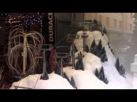 Christmas Village Ski Lift.Miniature Ski Lift