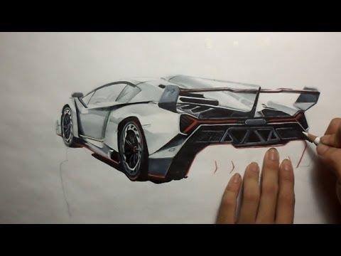 Drawing Lamborghini Veneno