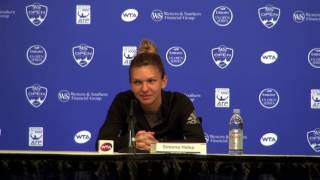 Western & Southern Open   Simona Halep On Sleep