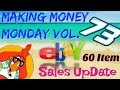 Making Money Monday 73 What Sold on EBAY Sales UpDate
