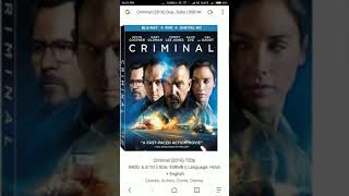 TeJ GuidE- How To Download Criminal (2016) Hindi Dubbed  Movie