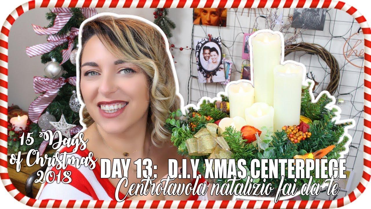 Centrotavola Natalizi Fai Da Te Youtube.15 Days Of Christmas 2018 Day 13 D I Y Christmas Centerpiece