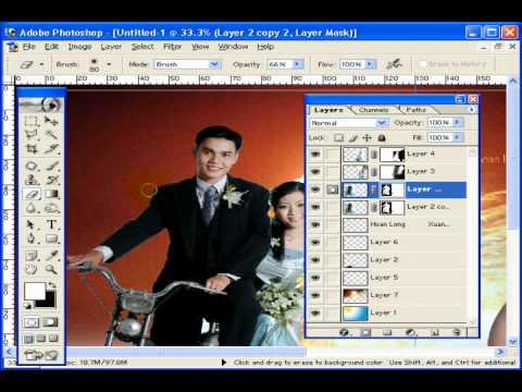 Photoshop CS2 - Phần 6 - Bài 4b - Album đôi