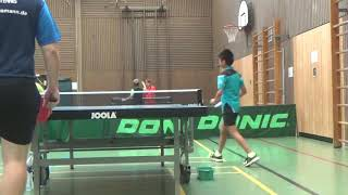 short Ralley presenting young Zhau Zoom Greuther Fuerth 20180901 Table Tennis Stadtm   1