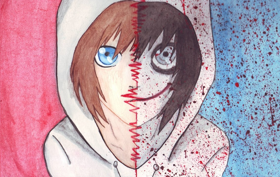 Jeff the killer cute anime drawing