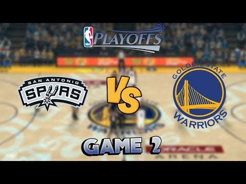 San Antonio Spurs vs. Golden State Warriors - Game 2 - 1st Round - NBA Playoffs! - NBA 2K18