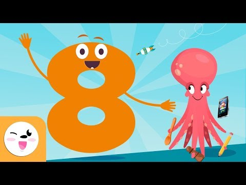 Number 8 - Learn to Count - Numbers from 1 to 10 - The Number Eight Song
