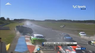 Top Race Series 2017. Final Autódromo Rosario. Nicolás Cazal Huge Crash Rolls