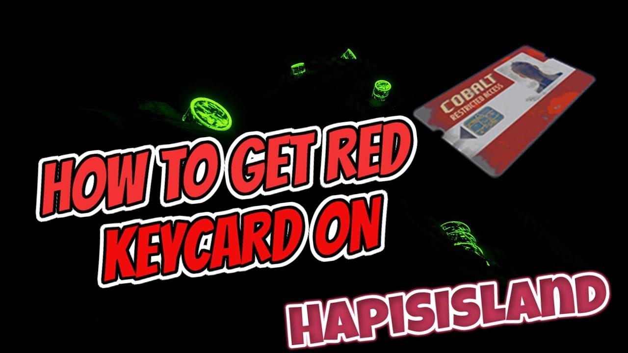 RUST - RED KEYCARD on HAPIS ISLAND