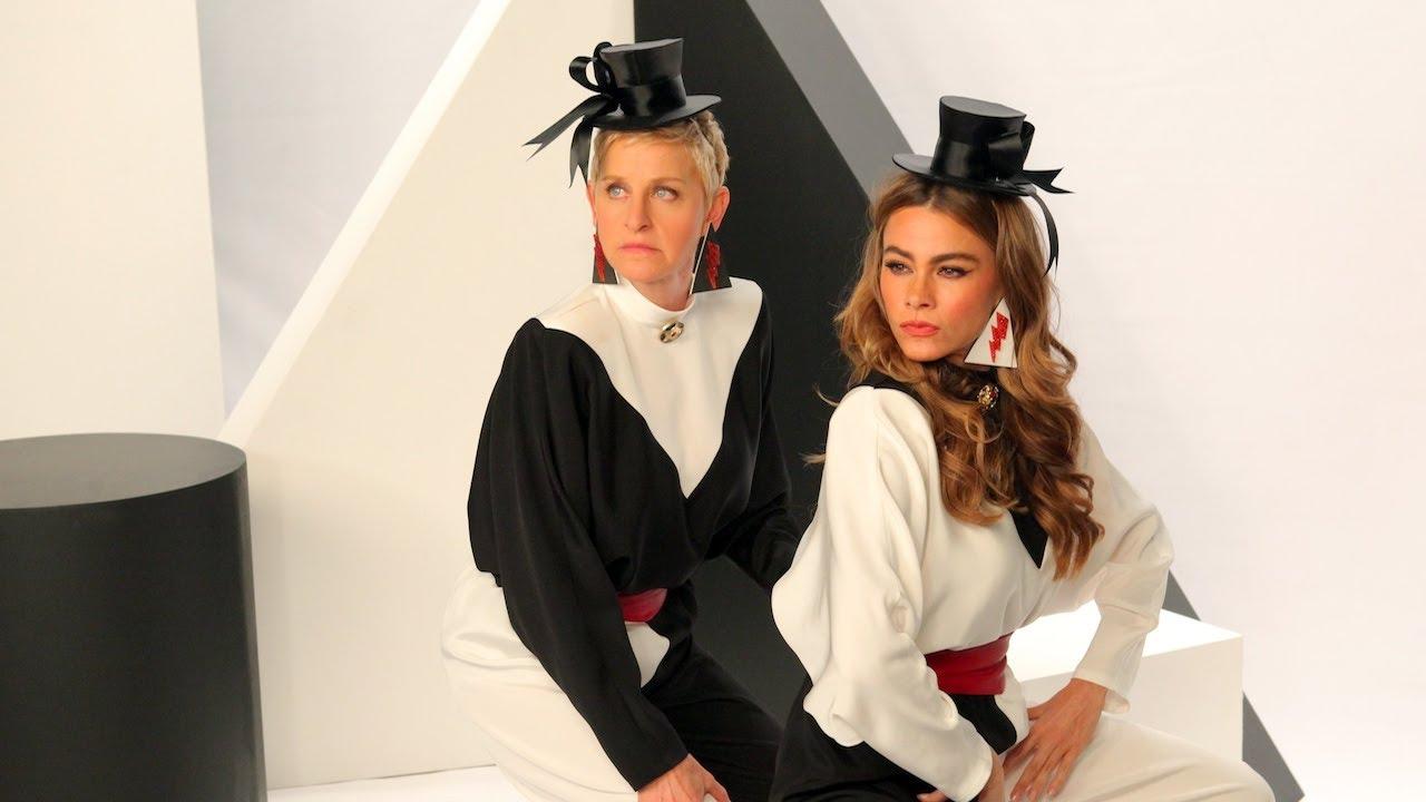 Sofia Vergara and Ellen's CoverGirl Commercial: Das Bombshell