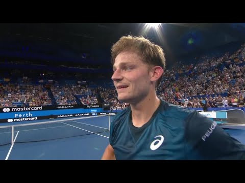 David Goffin on-court interview (RR)   Mastercard Hopman Cup 2018
