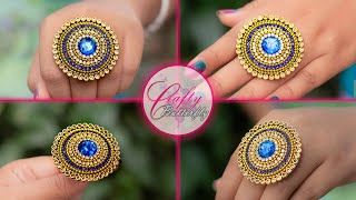 Make a ring for special occasion | paper ring | Party wear | Crafty Butterfly 058