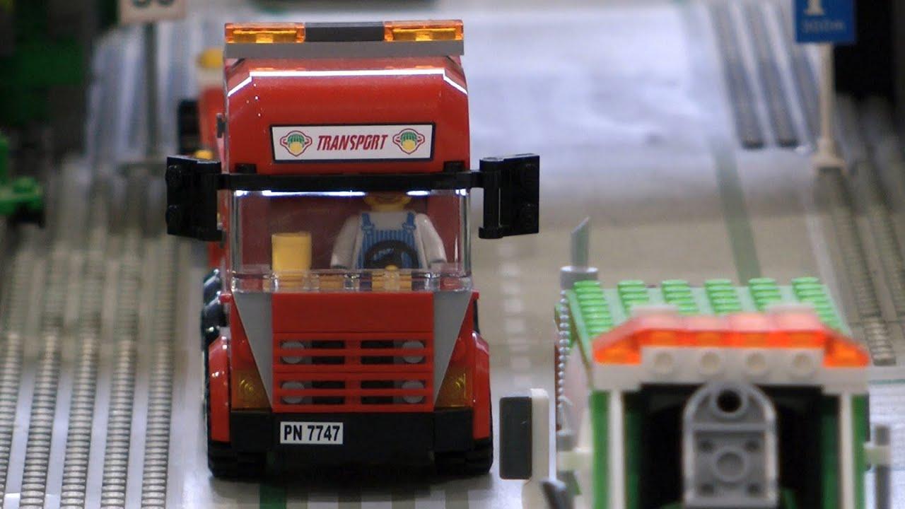 Lego Train And Big Lego City Youtube Building Lego City Train Station