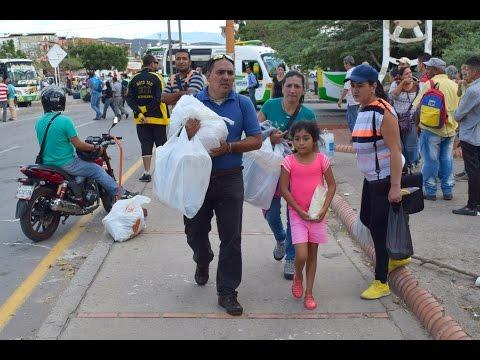Venezolanos celebran reapertura de frontera entre Colombia y Venezuela