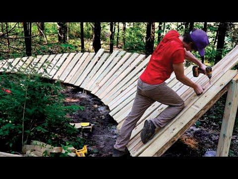Building a Huge Wooden Berm On My Backyard MTB Trail