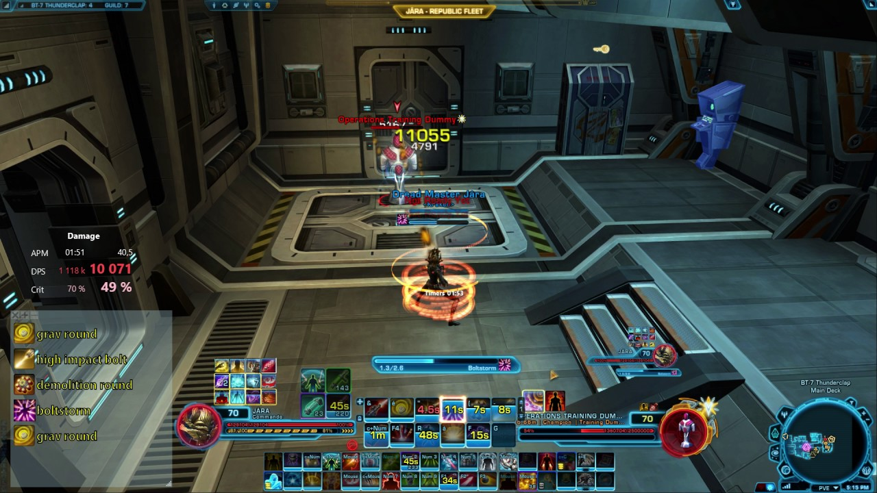 Swtor Best Dps Class 2020 Pve SWTOR 5.2   COMMANDO DPS GUNNERY   SAMPLE ROTATION   YouTube