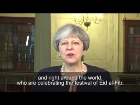 British Prime Minister ister theresa wishes eid Mubarak