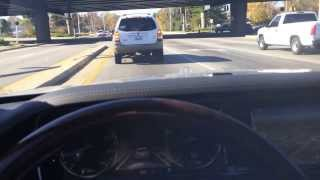 2014 Mercedes Benz S-Class Driving on the highway by its self!! Look, no hands!!