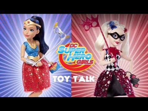 DC SUPER HERO GIRLS MASQUERADE MASK WONDER WOMAN & HARLEY QUINN DOLLS | TOY TALK